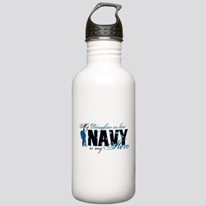 Daughter Law Hero3 - Navy Stainless Water Bottle 1