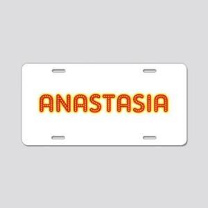 Anastasia in Movie Lights Aluminum License Plate