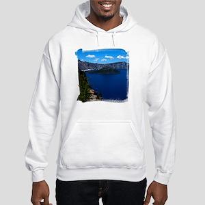 Crater Lake Wizard Island Hooded Sweatshirt