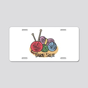 Yarn Slut Aluminum License Plate