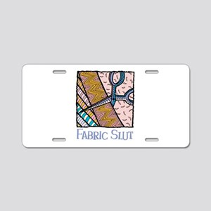 Fabric Slut Aluminum License Plate
