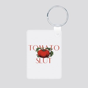 Tomato Slut Aluminum Photo Keychain
