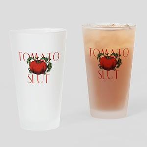 Tomato Slut Drinking Glass