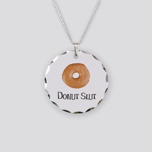 Donut Slut Necklace Circle Charm
