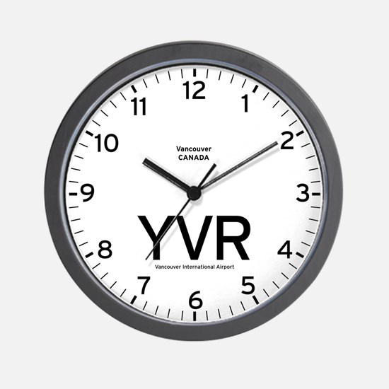 Vancouver YVR Airport Newsroom Wall Clock