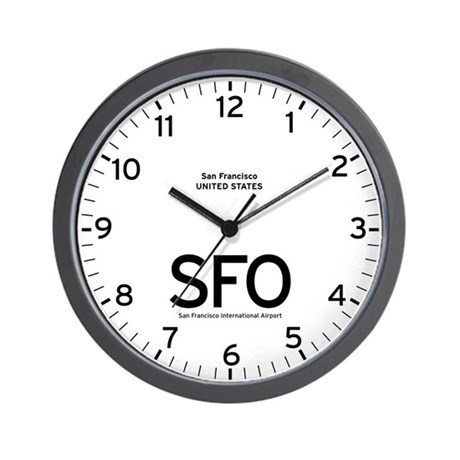 San Francisco SFO Airport Newsroom Wall Clock