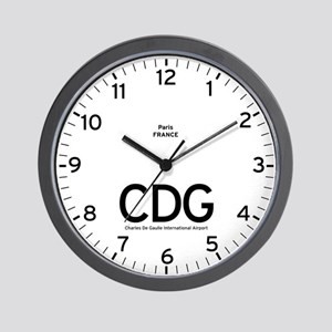 Paris CDG Airport Newsroom Wall Clock