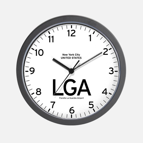 New York LGA Airport Newsroom Wall Clock