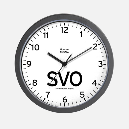 Moscow SVO Airport Newsroom Wall Clock