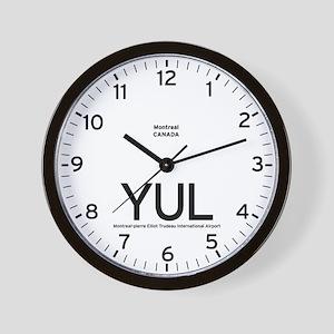 Montreal YUL Airport Newsroom Wall Clock