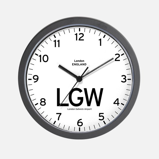 London LGW Airport Newsroom Wall Clock