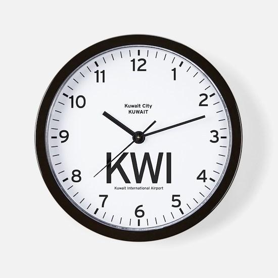 Kuwait KWI Airport Newsroom Wall Clock