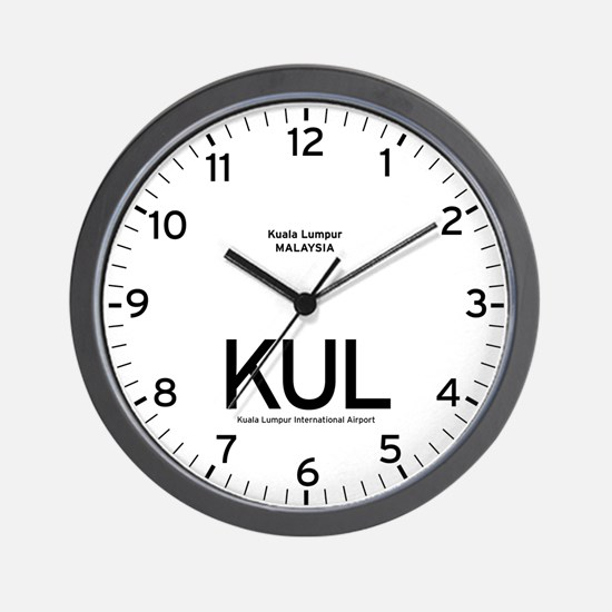 Kuala Lumpur KUL Airport Newsroom Wall Clock