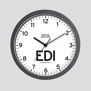 Edinburgh EDI Airport Newsroom Wall Clock
