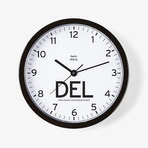 New Delhi DEL Airport Newsroom Wall Clock