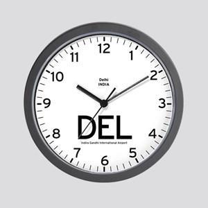 New Delhi DEL Airport Newsroom Wall Clock
