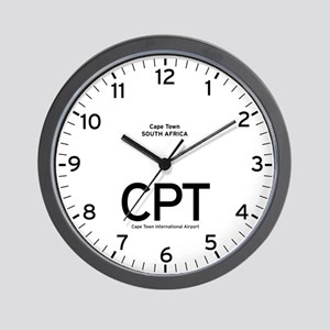 Cape Town CPT Airport Newsroom Wall Clock