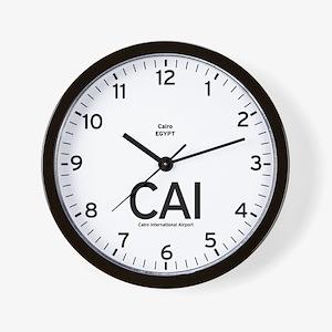 Cairo CAI Airport Newsroom Wall Clock