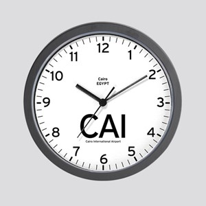 Cairo CAI Airport Newsroom Wall Clock