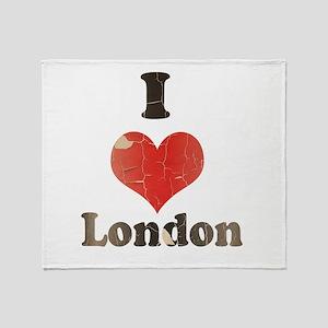 Vintage I Heart London Throw Blanket