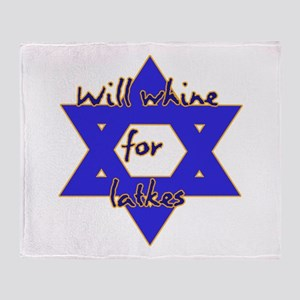 Will Whine for Latkes Throw Blanket