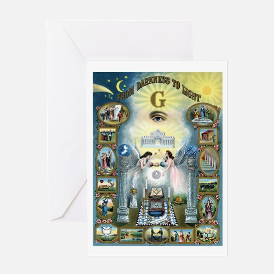 Darkness To Light Greeting Card
