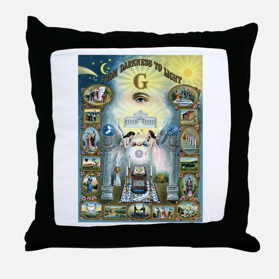 Darkness To Light Throw Pillow