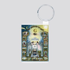 Darkness To Light Aluminum Photo Keychain