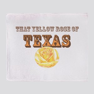 yellow rose of TEXAS Throw Blanket