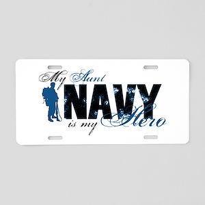 Aunt Hero3 - Navy Aluminum License Plate