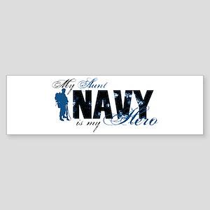 Aunt Hero3 - Navy Sticker (Bumper)
