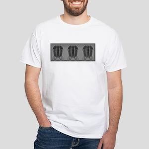 Trilobite Repeat #2 White T-Shirt