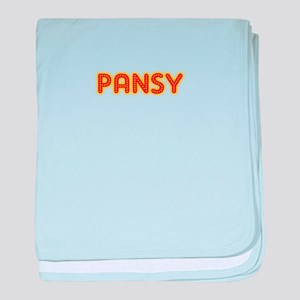 Pansy in Movie Lights baby blanket