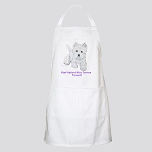 Westies Forever!! BBQ Apron