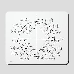 trig unit circle Mousepad