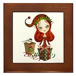 Jollybelle Christmas Elf Framed Tile