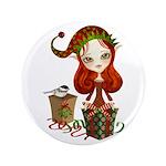 """Jollybelle Christmas Elf 3.5"""" Button"""