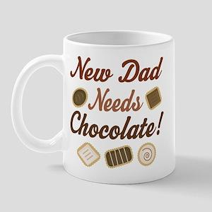 New Dad Needs Chocolate Mug