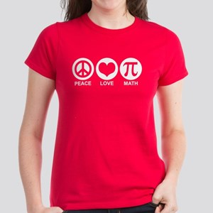 Peace Love Math Women's Dark T-Shirt