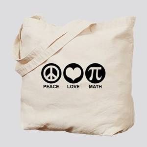 Peace Love Math Tote Bag