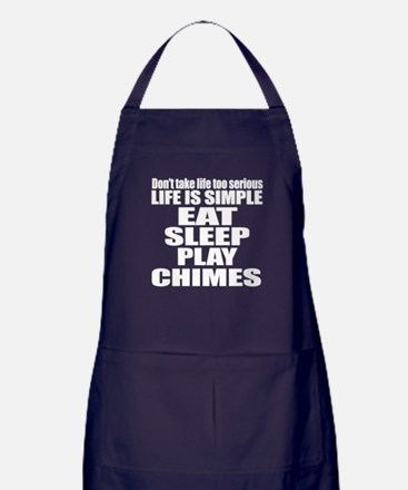 Eat Sleep And Chimes Apron (dark)