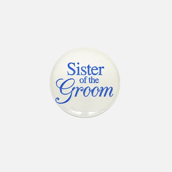 Sister of the Groom (blue) Mini Button