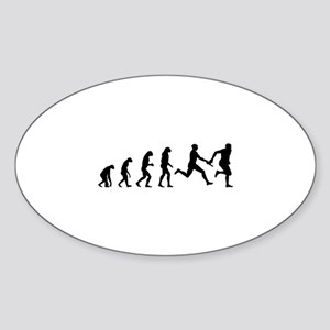 Evolution relay race Sticker (Oval)
