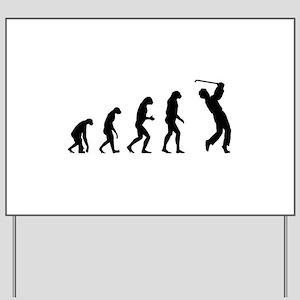 Evolution golfing Yard Sign