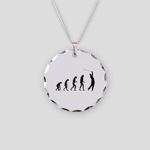 Evolution golfing Necklace Circle Charm