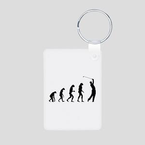 Evolution golfing Aluminum Photo Keychain