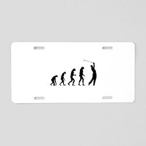 Evolution golfing Aluminum License Plate