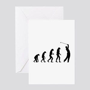 Evolution golfing Greeting Card