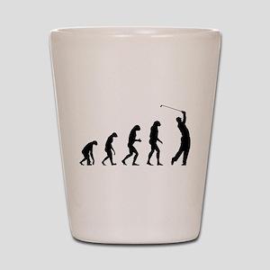 Evolution golfing Shot Glass