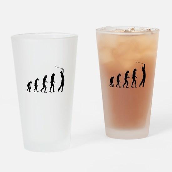 Evolution golfing Drinking Glass